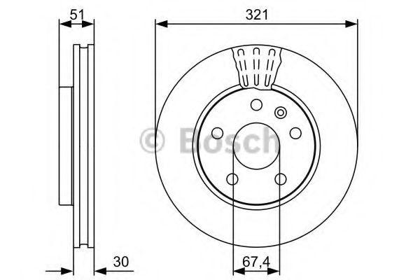 Тормозной диск Bosch BOSCH 0986479544