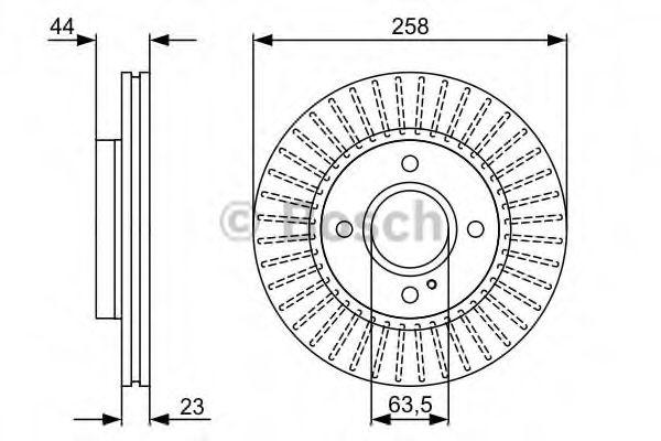 Тормозной диск (пр-во Bosch)                                                                         BOSCH 0986479566