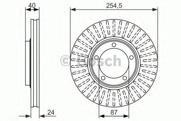 Тормозной диск  арт. 0986479596