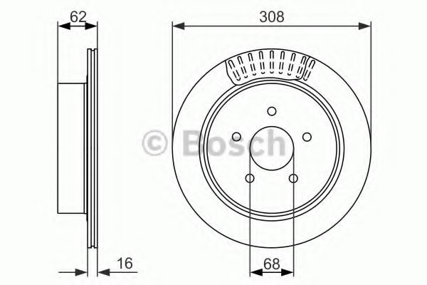 Тормозной диск  арт. 0986479606