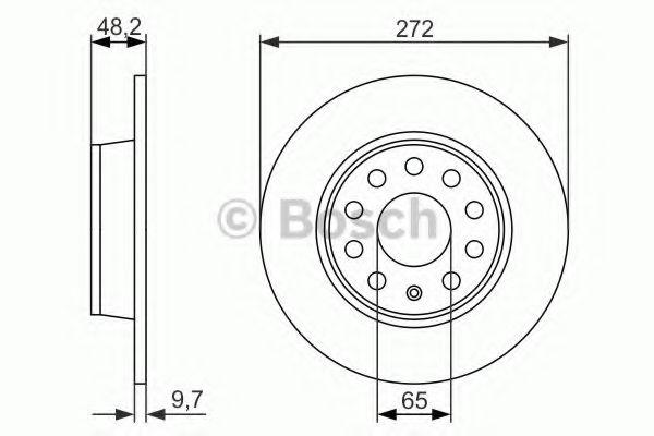 Тормозной диск Bosch BOSCH 0986479677