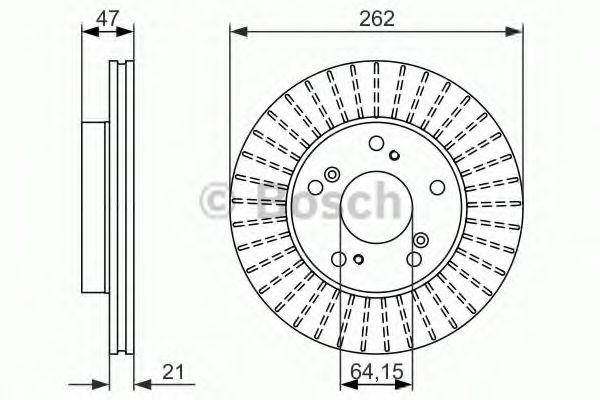 Тормозной диск  арт. 0986479687