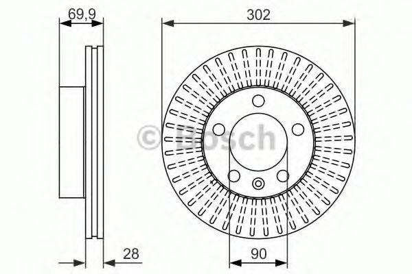 Тормозной диск BOSCH 0986479716