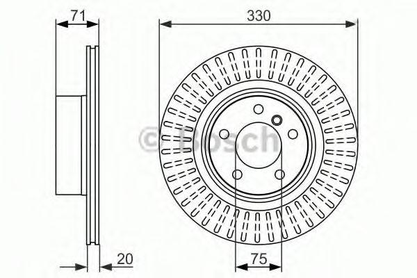 Тормозной диск BOSCH 0986479727