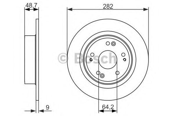 Тормозной диск Bosch BOSCH 0986479738