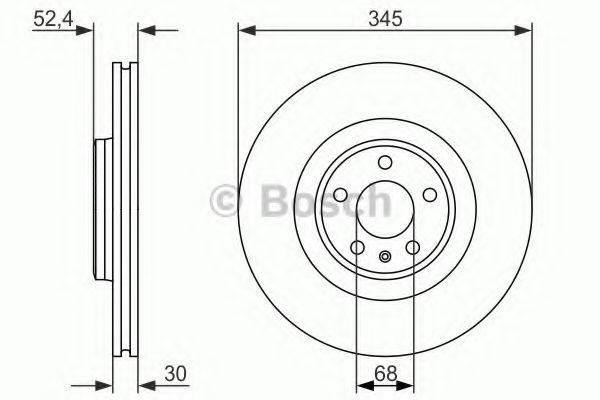 BOSCH AUDI Диск тормозной передний 345мм A4/A5/A6/Q5 08- BOSCH 0986479747