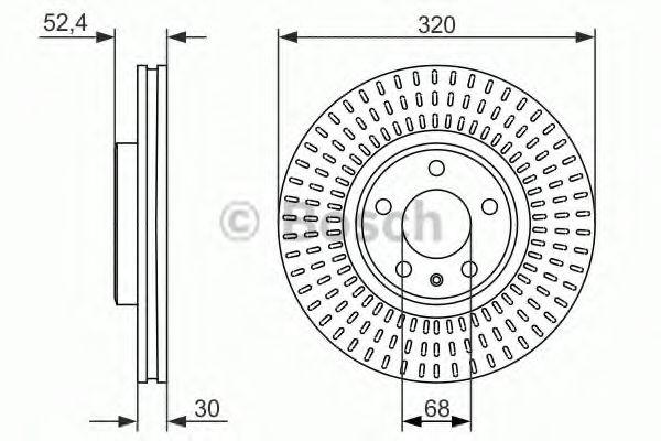 BOSCH AUDI Диск тормозной передний 320mm A4/A5/A6/Q5 08- BOSCH 0986479753