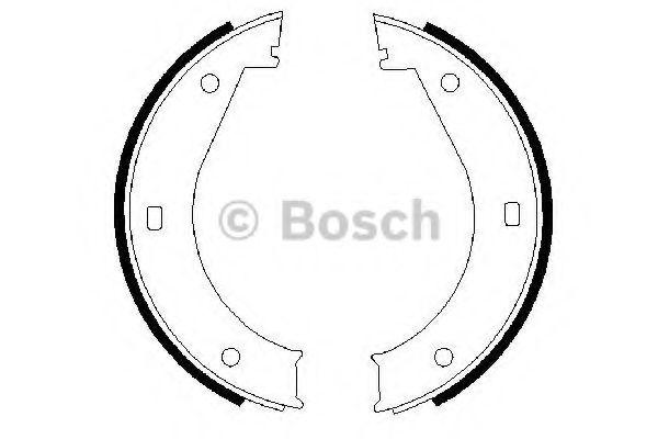 Колодка торм. барабан. стоян. торм BMW 5(E28, E34) 7(E32,E38) (пр-во Bosch)                           арт. 0986487211