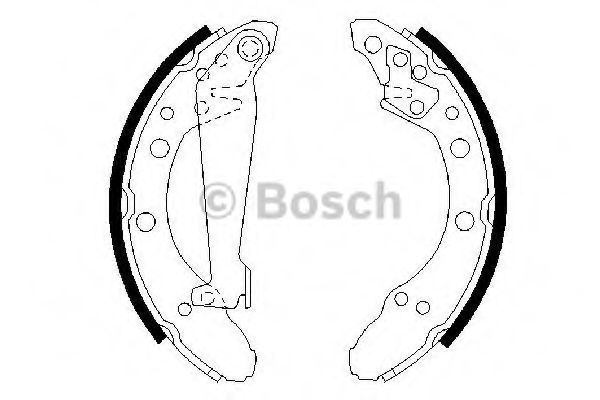 Колодка торм. барабан. AUDI 80,100, VW PASSAT (пр-во Bosch)                                          TRW арт. 0986487536