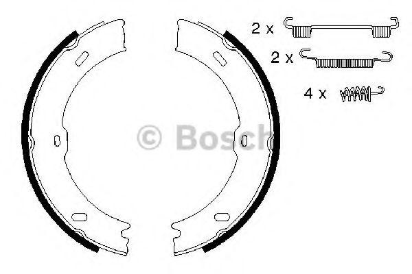 Brake pad set bosch 0986487720