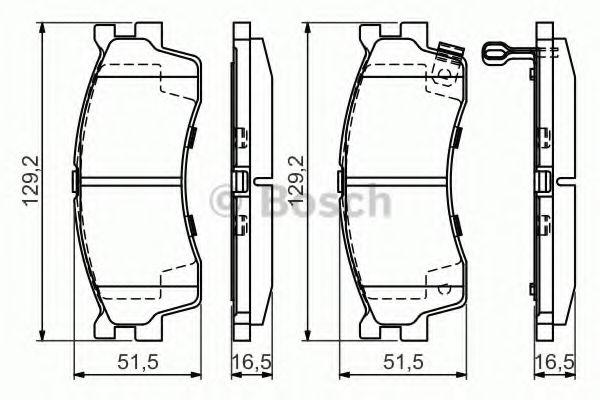 Тоpмозные колодки (пр-во Bosch)                                                                       арт. 0986494146