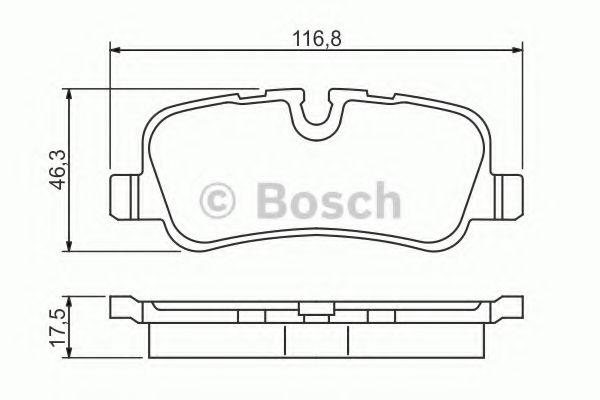 BOSCH  Тормозные колодки зад. Range Rover Sport 05- Discovery 04- BOSCH 0986494148