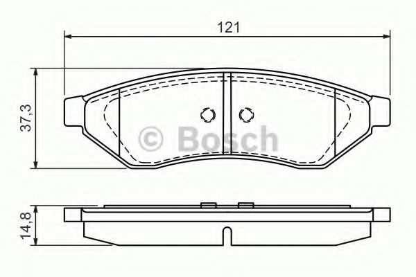 Колодка торм. CHEVROLET EPICA, EVANDA 2.0, 2.5 задн. (пр-во Bosch)                                    арт. 0986494172