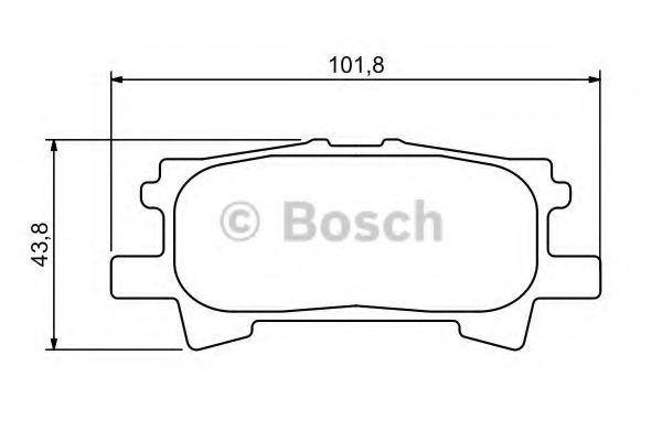 Тормозные колодки дисковые (пр-во Bosch)                                                             BOSCH арт. 0986494224