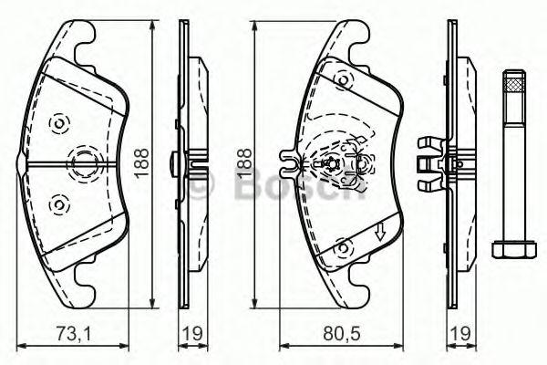BOSCH  Тормозные колодки пер. DB E W212, C W204 07- (SPORT) BOSCH 0986494263
