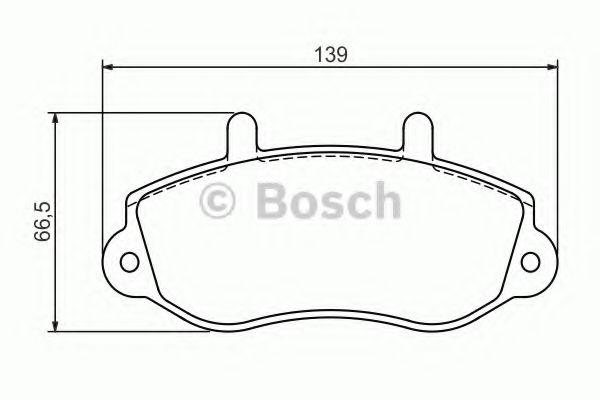 (R15)Гальмівні колодки дискові перед. Opel/Renault Movano/Master T28/Master T33/Master T35/Master BOSCH 0986494288