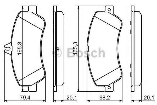 BOSCH  DB Тормозные колодки пер. GLK-Class 08- BOSCH 0986494302