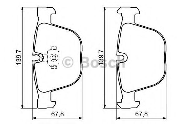 Тормозные колодки Bosch  арт. 0986494325