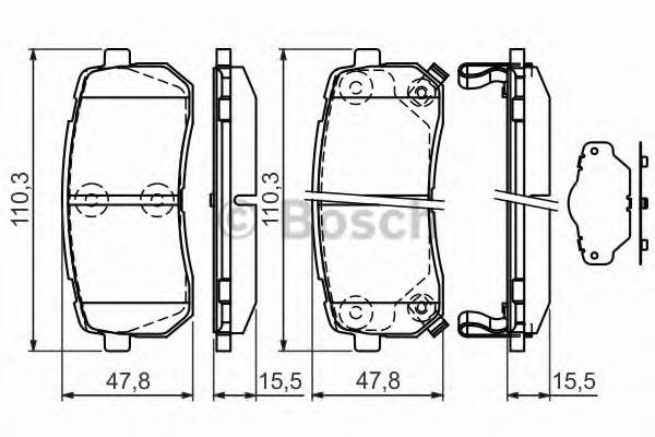 Тормозные колодки Bosch  арт. 0986494327