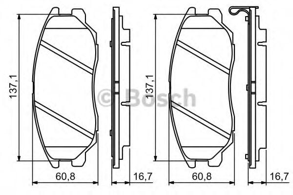 Комплект тормозных колодок, дисковый тормоз  арт. 0986494347