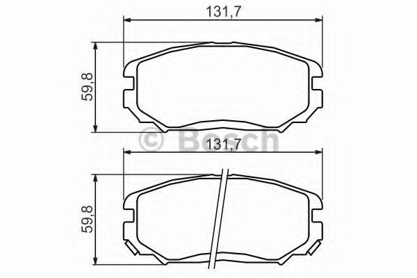 BOSCH  Тормозные колодки пер. HYUNDAY Sonata V 05- (для диск 300мм) BOSCH 0986494374