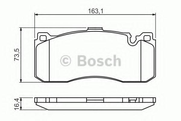 BOSCH  BMW Тормозные колодки 1 E81 BOSCH 0986494428