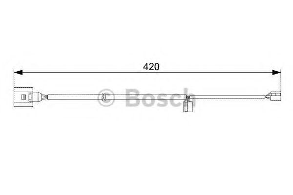 Датчик износа колодок VW, PORSCHE, AUDI (пр-во Bosch)                                                BOSCH арт. 1987473012