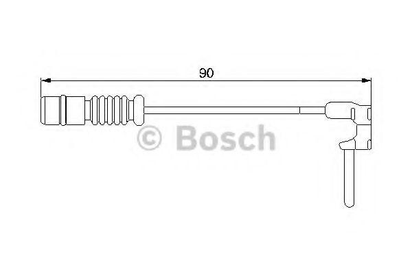 Автоаксессуары Датчик износа торм колод (пр-во Bosch)                                                                арт. 1987474901