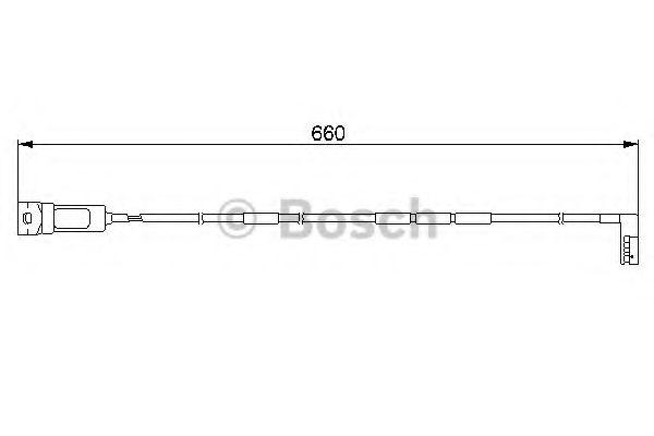 Автоаксессуары BOSCH. Датчики тормозных колодок (2шт.) OPEL Astra, Vectra 660мм [-]  арт. 1987474909
