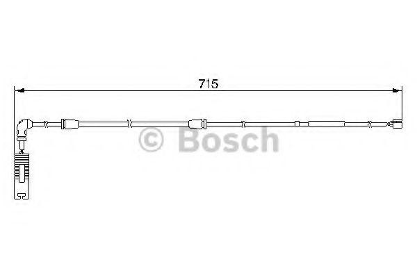 Датчик износа задн.торм.накладок BMW X5 (E53) (пр-во Bosch)                                           арт. 1987474946