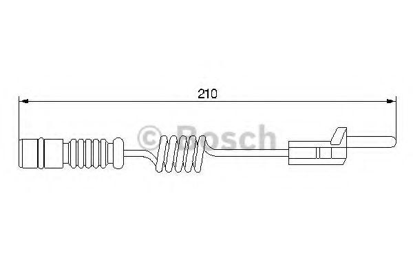 Автоаксессуары Датчик износа торм. колод MB, VW (пр-во Bosch)                                                        арт. 1987474969
