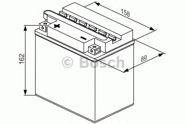 12V,16Ah,д. 162, ш. 92, в.162, объем 1,2, вес 5,6 кг,без электролита BOSCH 0092M4F390