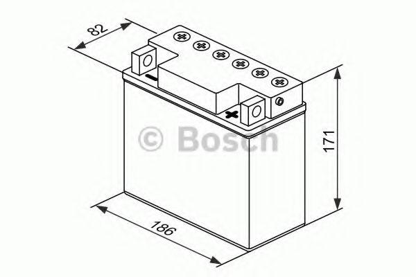 12V,18Ah,д. 186, ш. 82, в.171, объем 1,2, вес 5,7 кг,без электролита BOSCH 0092M4F410