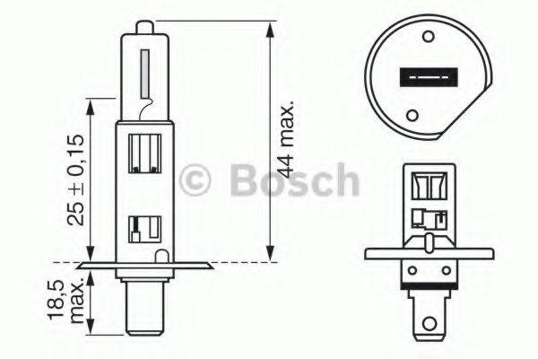 Лампа накаливания 12V 55W H1 PURE LIGHT (пр-во Bosch)                                                в интернет магазине www.partlider.com