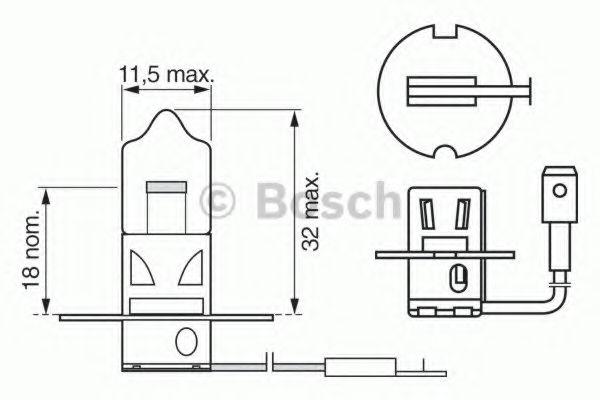 Лампа фарная H3, п/тум. фара LANOS (12V5WW5W) (пр-во Bosch)                                          в интернет магазине www.partlider.com