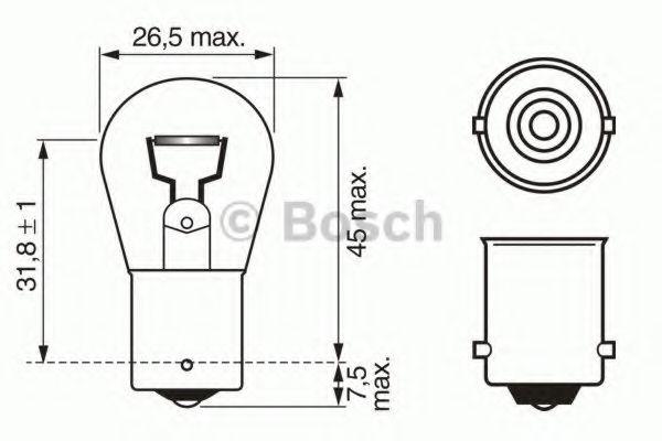 Лампа p21w daytime wv (пр-во Bosch)                                                                   арт. 1987302280