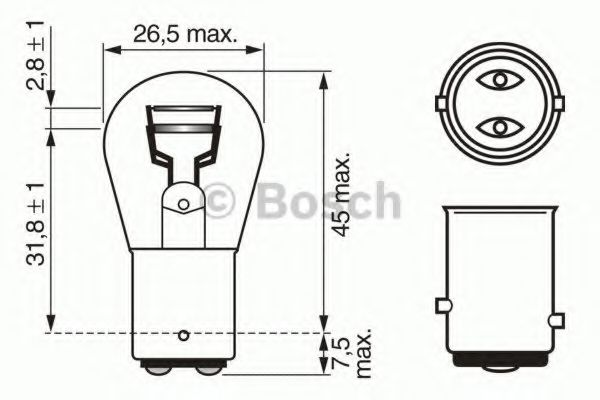 Лампа указ. габаритов А 12-21-5 ГАЗ, ВАЗ (пр-во Bosch)                                               в интернет магазине www.partlider.com