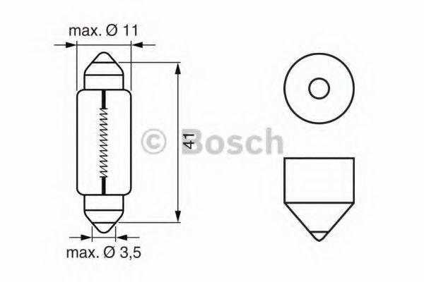 Лампа салона 12V 10W (пр-во Bosch)                                                                   в интернет магазине www.partlider.com