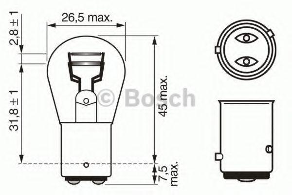 Лампа накаливания 12V 21/4W P21/4W PURE LIGHT (пр-во Bosch)                                          в интернет магазине www.partlider.com