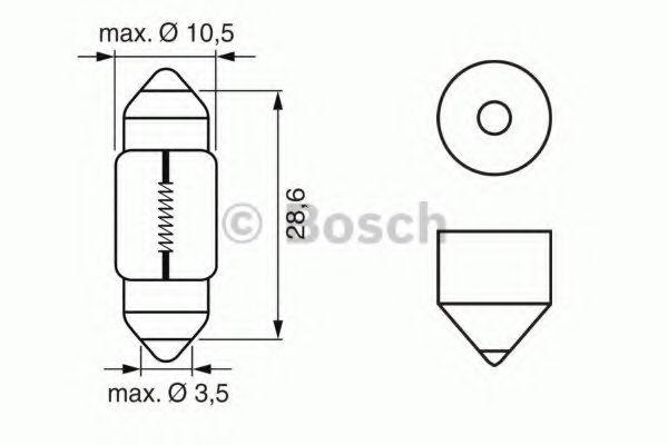 Лампа накаливания 12V 10W PURE LIGHT (пр-во Bosch)                                                   в интернет магазине www.partlider.com