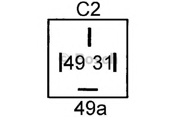 Датчик ук.поворота (пр-во Bosch)                                                                      арт. 0335200041