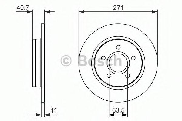 Тормозной диск BOSCH 0986479763