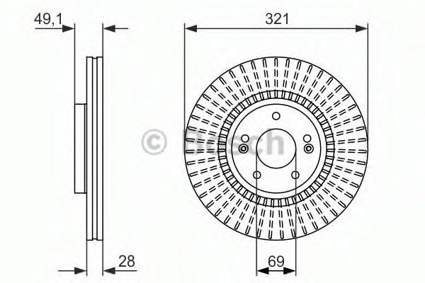 Тормозной диск  арт. 0986479786