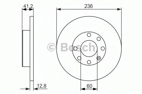 Тормозной диск Bosch  арт. 0986479830