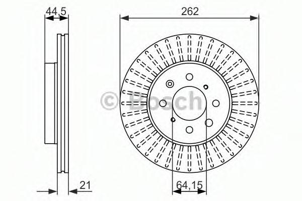 Тормозной диск  арт. 0986479838