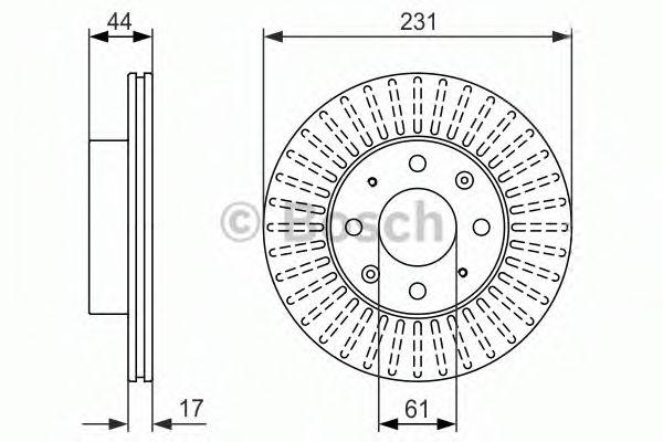 Тормозной диск передний  арт. 0986479841