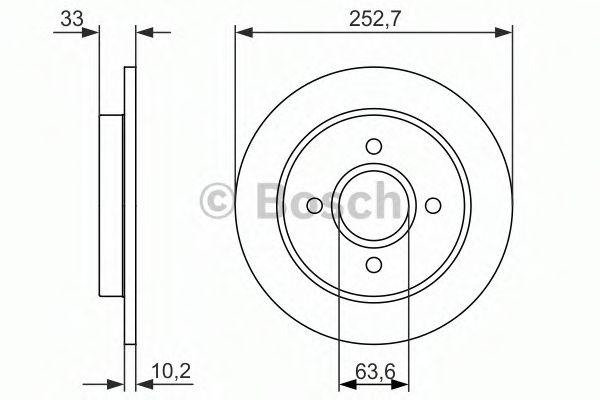 Тормозной диск  арт. 0986479859