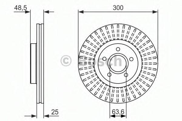 Тормозной диск  арт. 0986479956