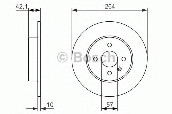 BOSCH  Тормозной диск зад. Opel Combo 01- BOSCH 0986479961