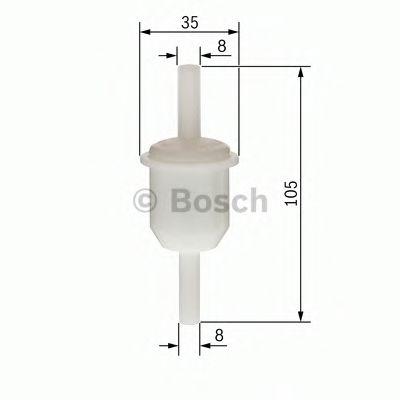 BOSCH (LV) F4058 Фильтр топливный (бензин) тонкой очистки (универсальный) BOSCH 0450904058